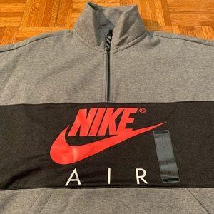 Nike Air Logo 14 Zip Pullover Fleece Retro NWT